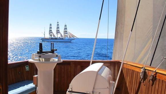 Sea Cloud II und Sea Cloud segeln gemeinsam