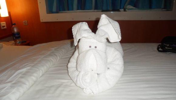 Jeden Abend eine neues Tier auf dem Bett