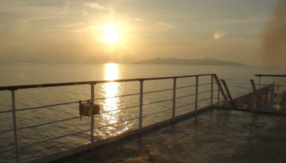 Sunset auf See