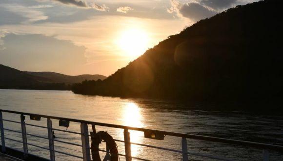 Abendliche Donau