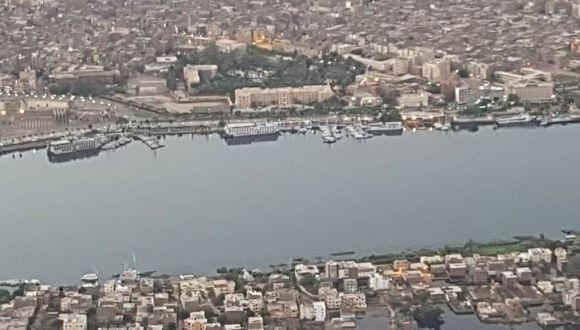 Luxor von oben mit unserem Schiff