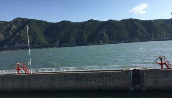 Schöne Landschaft entlang der Donau