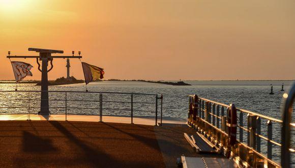 Einfahrt vom Schwarzen Meer in den Sulina-Kanal
