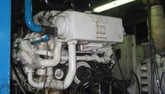 Der Motor des Schiffes