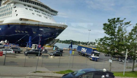 Colorline Magic im Hafen von Oslo
