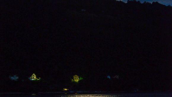 Vollmond über der unteren Donau