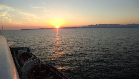 Sonnenuntergang gesehen von der Coral
