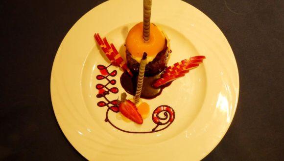 Dessert beim Mahara-Dinner