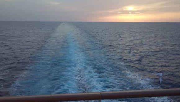 Auf See, Sonnenuntergang