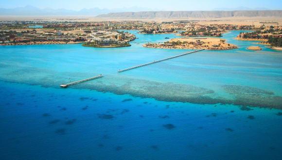 Blick auf El Gouna, Rotes Meer, Ägypten