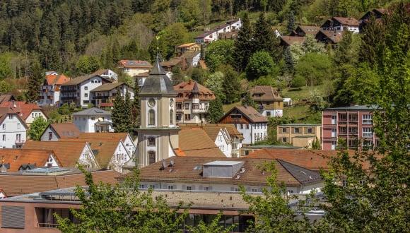 Stadt, Bad-Wildbad, Schwarzwald, Deutschland